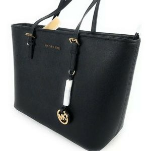 Michael Kors bag handbag leather tote black